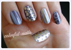 Current trend in the nail art studio of Marisa: metallic accents.