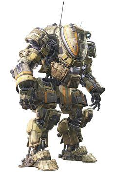 titanfall concept art - Google Search Cyberpunk, Futuristic Armour, Sci Fi Armor, Robot Concept Art, Robot Design, Conceptual Design, War Machine, Character Concept, Gundam