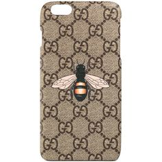 Gucci Bee Print Iphone 6 Plus Case (760 RON) ❤ liked on Polyvore featuring accessories, tech accessories, small accessories & tech, women and gucci