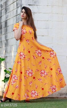 Kurtis & Kurtas Women Rayon Flared Printed Orange Kurti Fabric: Rayon  Sleeves: Sleeves Are Included    Size: 38 in 40 in  42 in  44 in  Length: Up To 52 in Type: Stitched Description: It Has 1 Piece Of Women's Kurti Work: Printed Country of Origin: India Sizes Available: 38, 40, 42, 44   Catalog Rating: ★4 (408)  Catalog Name: Women Rayon Flared Printed Orange Kurti CatalogID_323256 C74-SC1001 Code: 645-2413725-7341