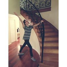 Ricky and the new house...I'm in love with that staircase...