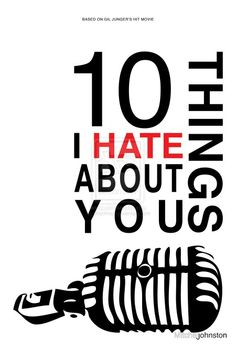 10 Things I Hate about You Minimalist Movie Poster