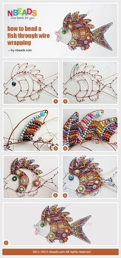 How to Bead A Fish Through Wire Wrapping by Amanda Wong | Project | Jewelry / Accessories | Kollabora