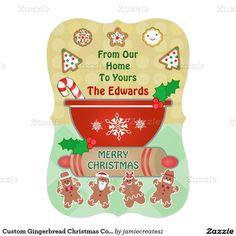Custom Gingerbread Christmas Cookies Greeting Card