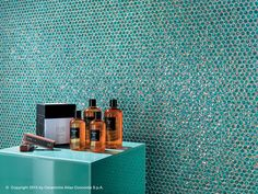 Dwell ceramic wall tile in turquoise by Atlas Concorde. Concorde, Ceramic Wall Tiles, Mosaic Tiles, Concrete Look Tile, Wall Tiles Design, Outdoor Tiles, Blue Tiles, Light Reflection, Design Consultant