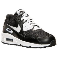 08fe7af8a2 Boys' Big Kids' Nike Air Max 90 Premium Leather Casual Shoes