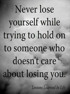 Don't lose yourself..