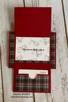 Fancy Fold Cards, Folded Cards, Gift Cards Money, Gift Card Cards, Birthday Gift Cards, 23 Birthday, Birthday Ideas, Christmas Gift Card Holders, Christmas Cards