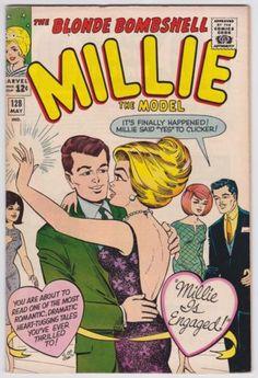 Millie The Model by Isabel Santos Pilot Old Comics, Archie Comics, Marvel Comics, Vintage Comic Books, Vintage Comics, Comic Book Heroines, Book Characters, Millie The Model, Comic Book Wedding