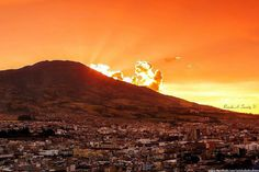 VOLCAN GALERAS  PASTO, NARIÑO, COLOMBIA Mount Rainier, South America, Celestial, Mountains, Sunset, Country, Places, Nature, Travel
