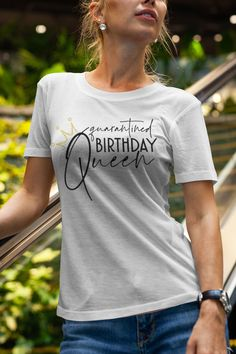 Queen Birthday, Pink Birthday, Home T Shirts, Order T Shirts, Personalized T Shirts, Casual Elegance, Custom T, Birthday Shirts, Shirts For Girls