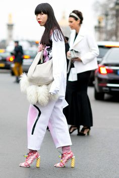 Street Style Paris Couture Week Spring 2014 - Street Style Photos Paris Couture Week - Elle