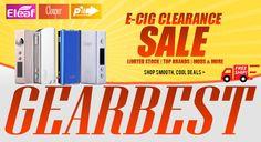 Grande braderie Ecig Gearbest : iStick, Cloupor Mini, iPV Mini, Sigelei 100W, Kato Box, GOD180, Origen V2, Kayfun V4 Style, Mini Nautilus, Taifun GT2 Clone.