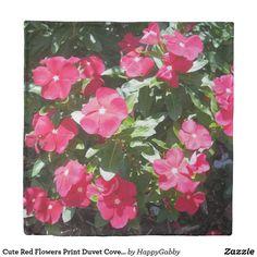 Cute Red Flowers Print Duvet Covers