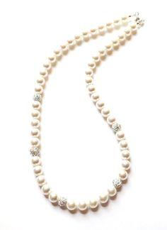 Swarvoski Pearl Necklace - Perfect as Wedding Jewellery