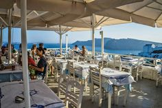 Spectacular vistas while dining in Santorini – Santorini Photo Gallery – The Trusted Traveller