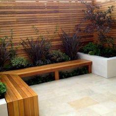 Patio ideas on a budget backyard seating, backyard. Large Backyard Landscaping, Backyard Seating, Garden Seating, Backyard Patio, Landscaping Ideas, Backyard Ideas, Desert Backyard, Backyard Privacy, Fence Ideas