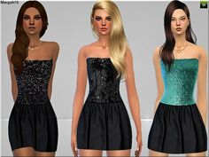 Sims 3 Addictions: Lets Party Dresses by Margies Sims • Sims 4 Downloads