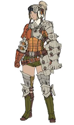 Monster Hunter 3 (Tri-). Equipped Female.  via fuckyeahvideogameconceptart