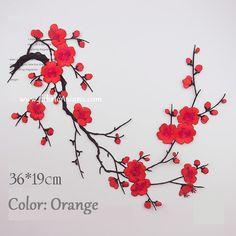 Blossom Applique. Cherry Blossom Decor. Flower Patch. Floral Applique. Sewing supplies. Embroidered Applique. LA100017