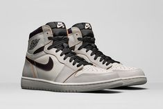 Nike SB x Air Jordan 1 'Light Bone/Crimson Tint-Hyper Pink-Black' Release Date Jordan Retro 1, Jordan 1 Retro High, Jordan Ones, High Top Sneakers, Sneakers Nike, Latest Sneakers, Nike Sb, Jordan Nike, Me Too Shoes