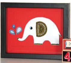 Hand drawn elephant drawing