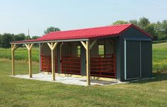 Loafing Shed Plans 1797131451 Horse Shed, Horse Barn Plans, Barn Stalls, Horse Stalls, Small Horse Barns, Metal Horse Barns, Horse Barn Designs, Loafing Shed, Goat Barn
