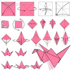 Flapping Bird: Animated Origami Instructions: How to make Origami