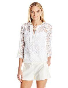 c6b0b51d029970 Nanette Lepore Women s Delicate Lace Top