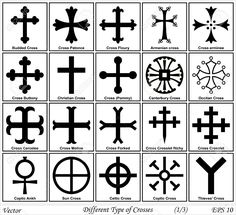 Different Types of Crosses and Their Meanings shapes of crosses - Google Search