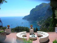 Balcony View, Isle of Capri, Italy.  Just can't beat the Almafi Coast and Capri Island.  Very romantic!