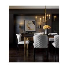 33 The Best Modern Dining Room Furniture Ideas - Modern furniture, like modern art, is characterized by unconventional styles and designs. Most design concepts from the old-style furniture were disca. Luxury Dining Room, Dining Room Sets, Dining Room Design, Dining Room Table, Dining Chairs, Room Chairs, Elegant Dining Room, Formal Dining Rooms, Office Chairs