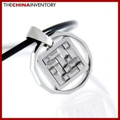 TUNGSTEN CARBIDE FACETED RING PENDANT NECKLACE P1301