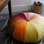 Stylish Stitched Seating: Jelly Roll Floor Pillow | Make: | MAKE: Craft