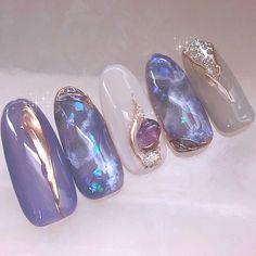 Stylish Nails, Trendy Nails, Asian Nails, Nagellack Design, Kawaii Nails, Nail Jewelry, Japanese Nails, Pretty Nail Art, Luxury Nails
