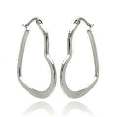 Stainless Steel Womens Heart Shape Hoop Earrings , (Thickness: 1 mm and mm , Includes a Gift Box & Special Pouch. Stainless Steel Hoop Earrings High Polish Finish Hinged-with-Notch-Post Heart Shape Stainless Steel Polish, 316l Stainless Steel, Fashion Earrings, Fashion Jewelry, Women Jewelry, Jewelry Sets, Earring Trends, Jewelry Trends, Heart Earrings
