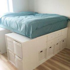 Ikea Hack Mandal Kommoden Bett In 2019 Bed Ikea Bedroom Ikea Hack