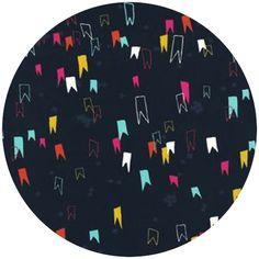 Rashida Coleman Hale for Cotton and Steel, Moonlit, VOILE, Gnome Pants Indigo