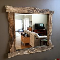 Custom barn board mirrors that can be made to any size! Bathroom vanity, hallway, entryway, full length and more! Lightbox, Mirrors, Oversized Mirror, Frames, Entryway, Barn, Cottage, Culture, Antiques
