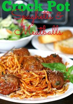 Slow Cooker Spaghetti & Meatballs {All-in-One}