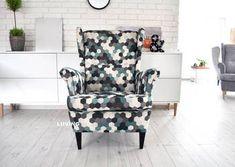 Fotel uszak w tkaninie plaster miodu