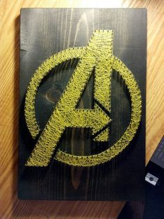 The avengers string art string canvas! Avengers Room, Marvel Room, Fun Crafts, Diy And Crafts, Arts And Crafts, Hilograma Ideas, Diy Y Manualidades, Nail String Art, Art Plastique