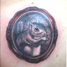 Squirrel tattoo. Cute