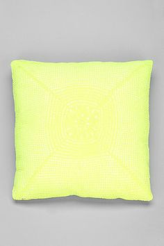 Plum & Bow Neon Crochet Pillow.  urban outfitters.