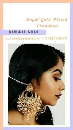 bridal jewelry for the radiant bride Indian Jewelry Earrings, Indian Jewelry Sets, Indian Wedding Jewelry, Bridal Jewelry, Indian Bridal, Hyderabadi Jewelry, Rajputi Jewellery, Heavy Earrings, Traditional Earrings
