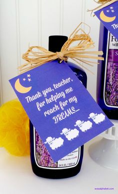 """""""Reach for my Dreams"""" Teacher Appreciation Gift 