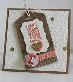 Cute Tag Topper Card by Joanne Herbert
