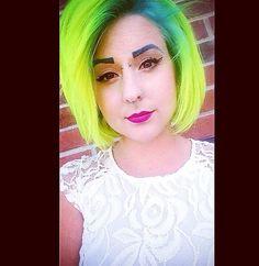 Pravana neons yellow and blue hair