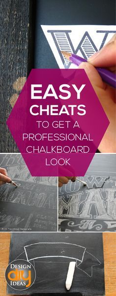 Tips and Tricks to achieve a professional chalkboard look!  Read it- you'll thank me later!