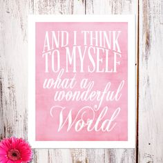 Personalized Wall Art & Nursery Decor ''What a Wonderful World''  by DaisyPrintCo......